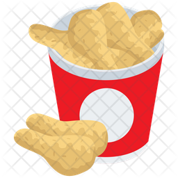 Fried Chicken Wings Icon