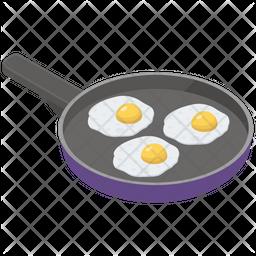 Fried Eggs Pan Icon