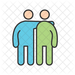 Friends Icon Of Colored Outline Style Available In Svg Png Eps Ai Icon Fonts