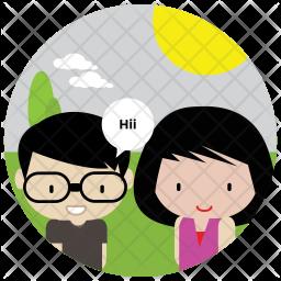 Friends Flat  Logo Icon
