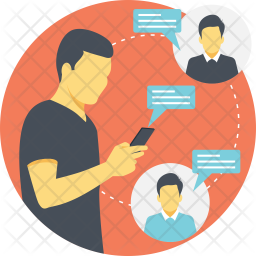 Friends Communication Flat Icon