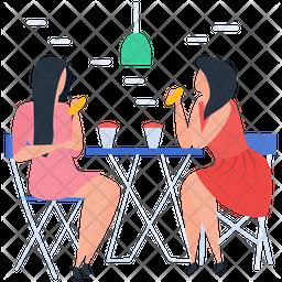 Friends Gossips Flat Icon