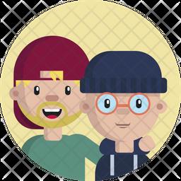 Friendship Flat Icon