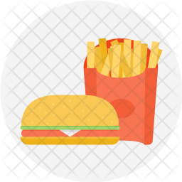 Fries, Burger, Potato, Chips, Fastfood, Snack Icon
