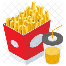 Fries With Drink Icon