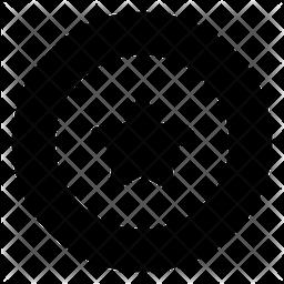 Frisbee Glyph Icon