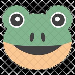 Frog Face Emoji Icon