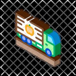 Fruit Track Isometric Icon