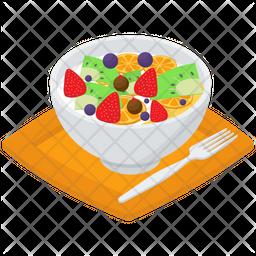 Fruits Salad Bowl Icon
