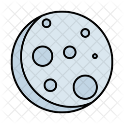 Full Moon Colored Outline Icon