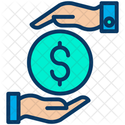 Funding Dollar Colored Outline Icon
