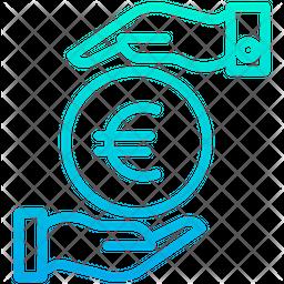 Funding Euro Gradient Icon
