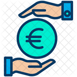 Funding Euro Colored Outline Icon