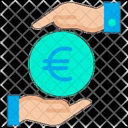 Funding Euro Flat Icon