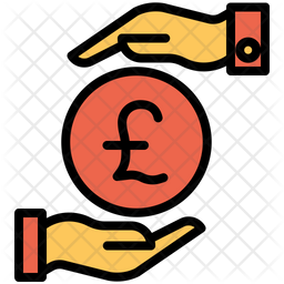 Funding Pound Colored Outline Icon