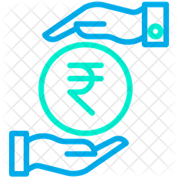 Funding Rupees Line Icon