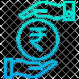 Funding Rupees Gradient Icon
