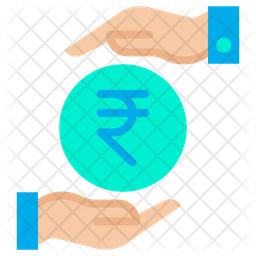 Funding Rupees Flat Icon