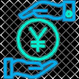 Funding Yen Line Icon