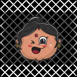 Funny Aunt Emoji Icon