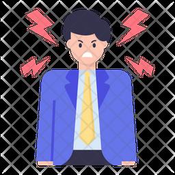Furious Person Icon