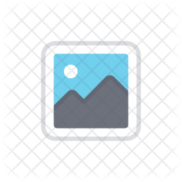 Gallery Colored Outline Icon