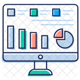 Game Analysis Colored Outline Icon