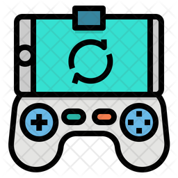 Game Controller Colored Outline Icon