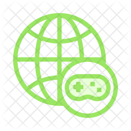Game network Colored Outline Icon