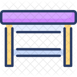 Game Table Colored Outline Icon