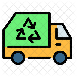 Garbage truck Colored Outline Icon