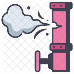 Gas Pollution Icon