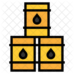 Gasoline Colored Outline Icon