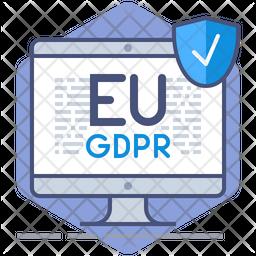 Gdpr License Colored Outline Icon