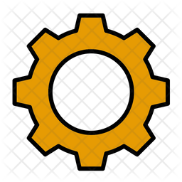 Gear Icon Of Colored Outline Style Available In Svg Png Eps Ai Icon Fonts