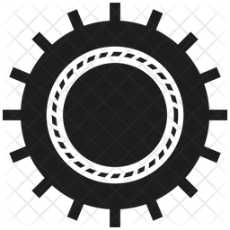 Gear Icon Of Glyph Style Available In Svg Png Eps Ai Icon Fonts
