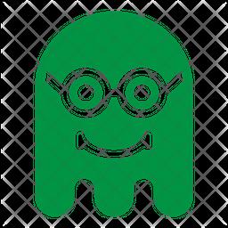 Geek Flat  Emoji Icon