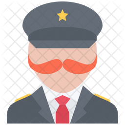 General officer Flat Icon