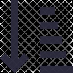Generic Sorting Line Icon