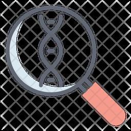 Genes Analysis Line Icon