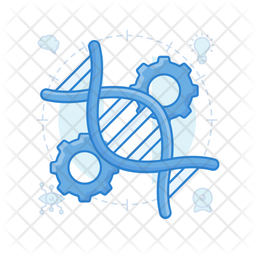 Genetic Engineering Colored Outline Icon