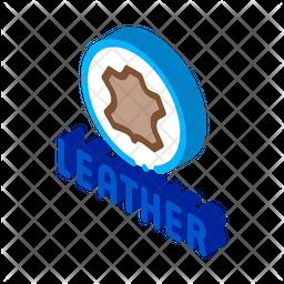 Genuine Leather Label Icon