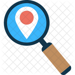 Geographical Position Tracking Icon