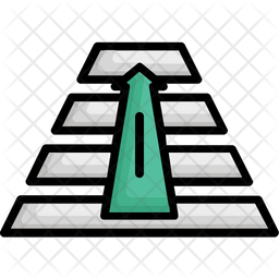 Get on Top Colored Outline Icon
