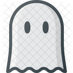 Ghost Colored Outline Icon