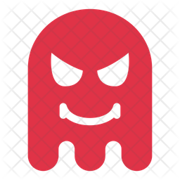 Ghost angry Flat  Emoji Icon