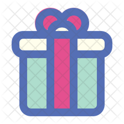 Gift Colored Outline Icon
