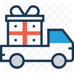 Gift Delivery Colored Outline Icon
