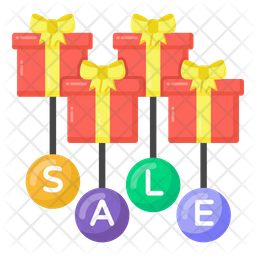 Gift Sale Flat Icon
