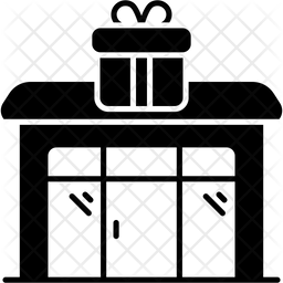 Gift Shop Glyph Icon